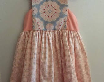 Mandala printed dress for girls
