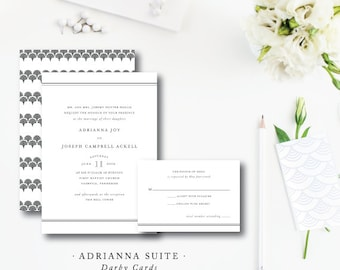 Adrianna Printed Wedding Invitations | Printed or Printable by Darby Cards Collective