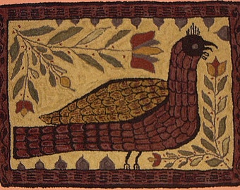 1806 Fraktur Rug Hooking Pattern
