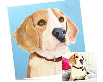 Bespoke Acrylic Pet Portraiture Painting