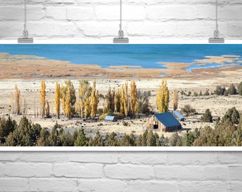 Farm Landscape, Ranch Landscape, Western Picture, Western Art, Panoramic Photo, Western Landscape Photograph, Autumn Picture, Wide Panorama
