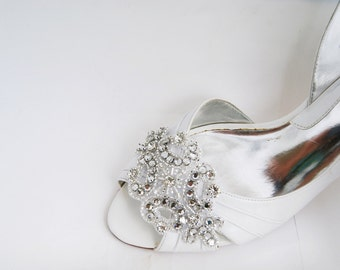 rhinestone applique bridal shoe clips