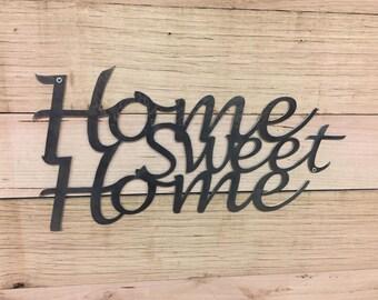 Metal Home Sweet Home Steel Wall Garden Art Sign
