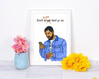 Drake 5x7 Art Print - Free U.S. Shipping!