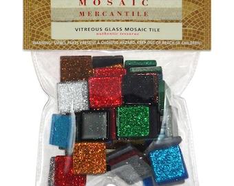 Vitreous Glass Mosaic Tiles .5lb -Waterproof Mosaic Tiles - Vitreous Tiles - Mosaic Tile Embellishments - Assorted Mosaic Tiles - 13-087