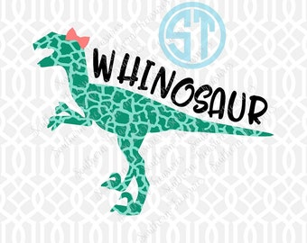 Whinosaur Girl Sublimation Heat Transfer Pre Made DIY Iron On Personalized HTV Vinyl Choose