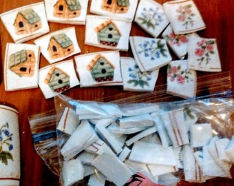 Broken china, Mosaic pieces, Bird House China,,, Mosaic Supplies