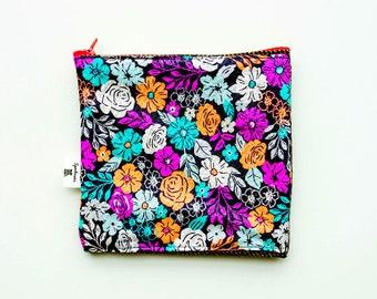 Modern Floral Fabric Clutch Wallet