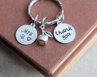 Gift for Teacher, Teacher Appreciation Gift, Teacher keychain, Personalized Teacher Keychain, Teacher Gifts, Apple Keychain, Back to School