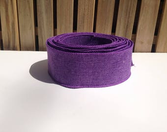 Purple wired ribbon burlap for wreaths, decorations, garlands, buffet tables and gift packages, wedding ribbon garland