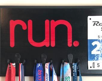 Running Medal Holder Race Bib Display, Ready to Ship