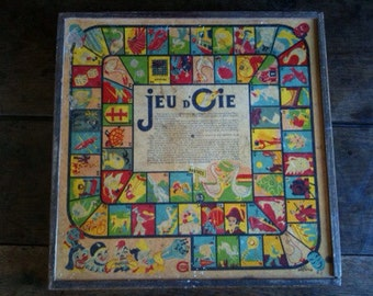 Vintage French Compendium Board Game Box / English Shop