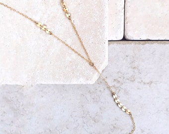 Delicate necklace, lariat necklace, gift for her, Y necklace, best seller, bridesmaids gift
