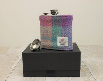Hip Flask Groomsmen Gifts Best Man Gifts Wedding Flask Harris Tweed Flask Wedding Hip Flask Fathers Day Gift Gifts for Him