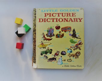 Child Dictionary, Little Golden Picture Dictionary, Original Little Golden Books, Golden Book #369, Child Dictionary, Picture Dictionary