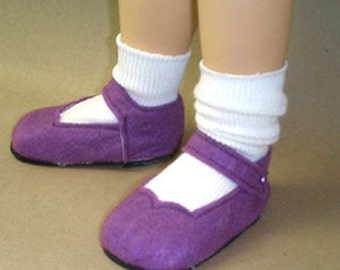"Patsy Shoes Pattern - Ann Estelle Sewing - Felt Shoes for 10"" dolls 40811"