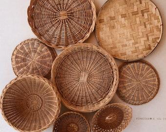 Vintage Collection of Baskets & Trivets • Set of 8