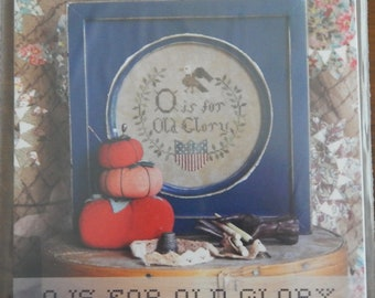 O is for Old Glory The Alphabet Series #1 from Heartstring Samplery