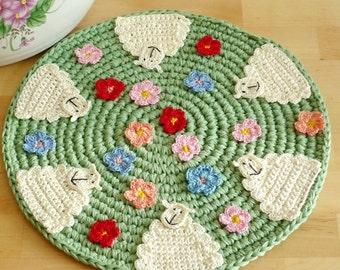 Crochet Sheep Place Mat