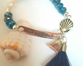 BEACH ADVENTURES - Meet me at the Beach beaded bracelet