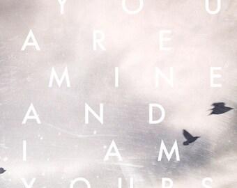 sky, typography, birds, love, fine art photography