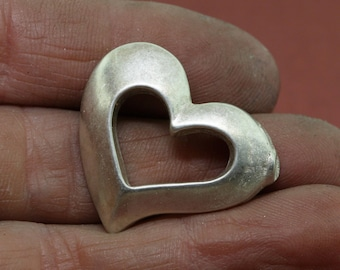 Unfinished Heart Casting, Silver Components, Metalsmiths supply, Jewelers Supplies, Unfinished Casting, Jewelry Findings, Jewelry Supplies