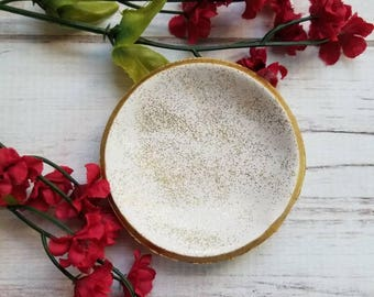 Glitter Ring Dish, Trinket Dish, Jewelry Dish, Ring Holder, Clay Ring Dish, Engagement Gift, Women's Gift, Gift For Her, Mother's Day Gift