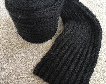Aran Wool Scarf - Handknit