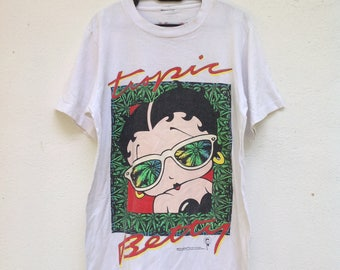 Sale Vintage 90s Betty Boop Tropic T Shirt