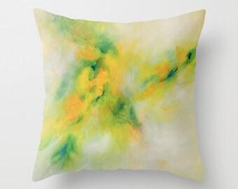 Lime Pillow, Green Pillow, Yellow Pillow, Designer Pillows, Decorative Throw Pillows, Art Pillow Covers, Bedroom Decor, Cushions 24x24 16x16