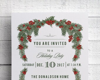 Christmas Party Invitation, Holiday Party, Company Party, Event, Christmas Invitation, Hanukkah Party, Holiday Event, Flyer, Classy, Elegant