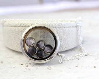 Moon Phases, Moon Phases Necklace, Moon Locket, Moon Jewelry, Space Locket, Solar System Necklace, Galaxy Necklace, Science Necklace