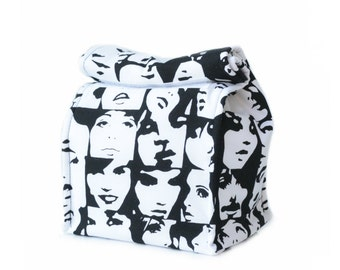 MTO Insulated lunch bag - Faces