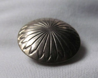 Southwestern Navaho Sterling Silver Concho Button Sterling Silver Button Covers  Jewelry for Your Blouse Sterling Silver Button Cover