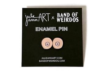 Enamel Pin - Boob Pin - Donate to Planned Parenthood