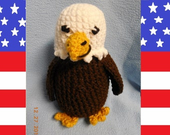 Crochet Plush Bald Eagle Bird Stuffed Animal