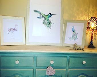 Large Hummingbird Print