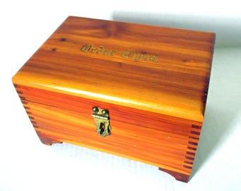 Cedar Treasure Chest, Dovetailed Cedar Box, Wooden Jewelry Box, Pirate Chest, Storage Larping Castle Decor, Cedar Footed Trinket Dresser Box