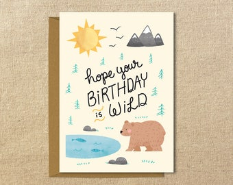 Wild Birthday | A2 Illustrated Birthday Card