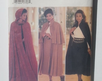 Butterick 3084 Cape & Skirt Fast and Easy Sewing Pattern Essence Collection Uncut FF