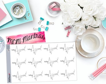 """MCM MANTRAS: """"Healing is not linear"""" Paper Planner Stickers!"""