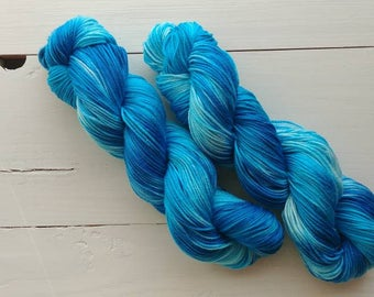 SURFS UP, Hand dyed yarn, 4ply, Pima Cotton Yarn