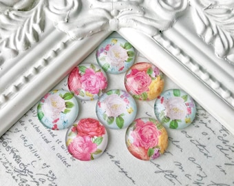 Floral Magnets or Pushpins, Magnets, Pushpins, Decorative Magnets, Flower Pushpins, Vintage Magnets, Fridge Magnets, Wedding Favors