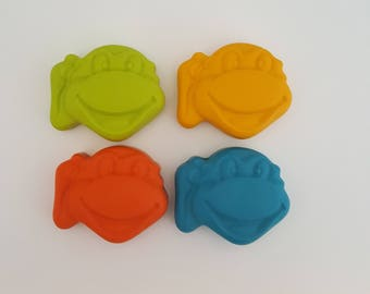 Ninja Turtle Crayons - Set Of 6  - Kids Birthday - Party Gifts - Goody Bags - Coloring - Party Favors - Kids Colouring