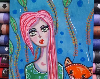 My dear fox / ORIGINAL ACEO