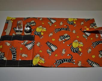 Cats-mouse lunch placemat