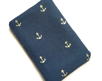 Pill Case Birth Control Cozy - Tiny anchors