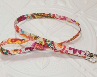 Badge Holder Lanyard - Fabric Lanyard - Key Lanyard - Teachers Gifts