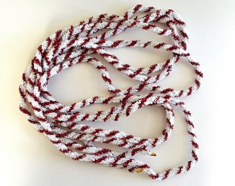 vintage candycane tinsel rope garland red white candy cane garland christmas holiday crafting decor
