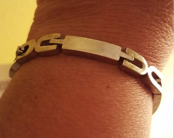 Vintage Mexican Sterling Silver Link Bracelet